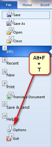 حذف کلید¬های میانبر با استفاده از صفحهکلید