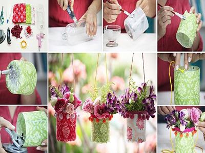 ساخت گلدان تزیینی