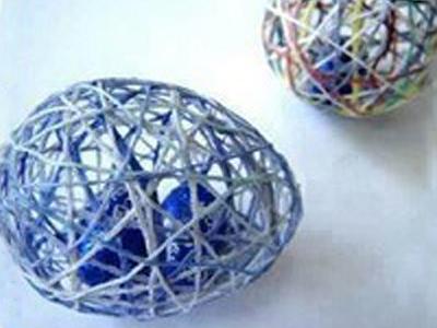 ساخت تخم مرغ های حصیری