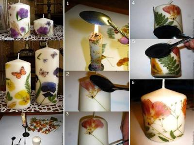 تزیین شمع با نگین اتریشی انجمن های پیچک - انجمن هنرهای دستی